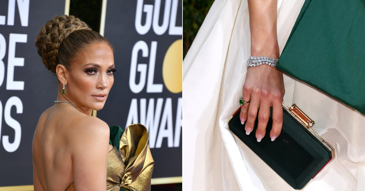Jennifer Lopez's Nails Are the Best - and Easiest to Miss - Part of Her Golden Globes Look