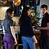 One of these pairs of jeans is not like the others (Aria's purple option)!