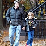 Matthew Broderick walked James Wilkie to school.