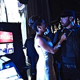 Salma Hayek and Eminem at the 2020 Oscars