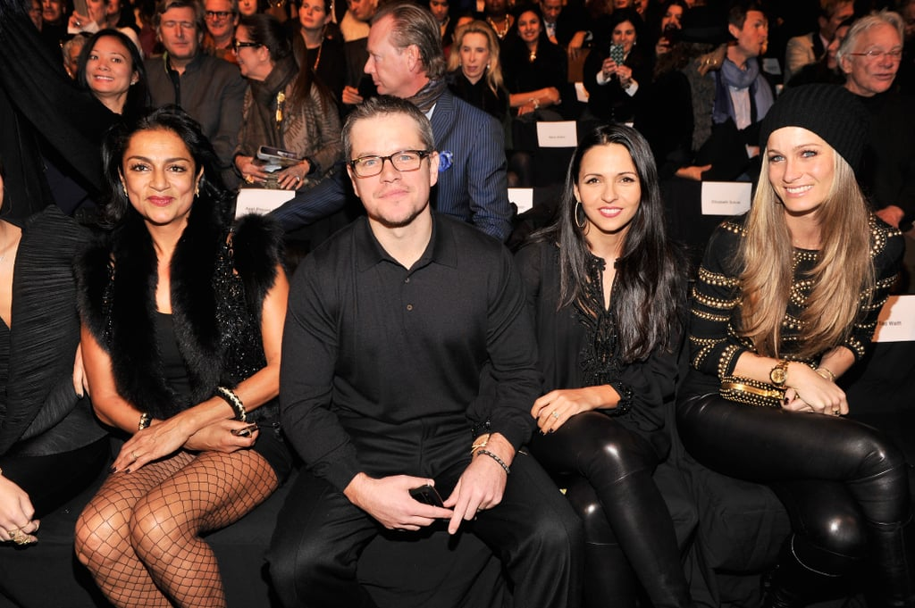 Matt Damon at Fashion Week February 2013