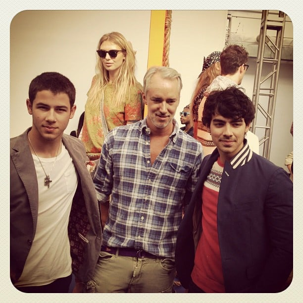 Joe Jonas and Nick Jonas got together with Michael Bastian at the Gant presentation. Source: Instagram user bloomingdales
