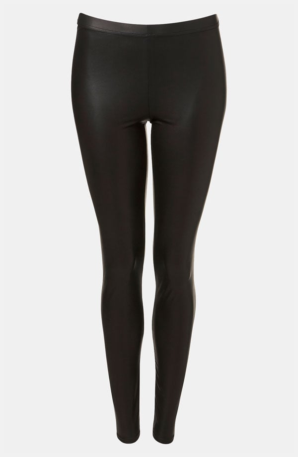 If you live in leggings, think about adding a faux-leather pair ($36) to the mix.