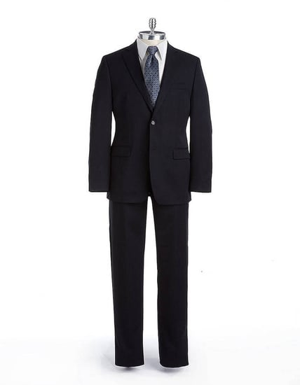 DKNY Wool Two-Button Flat-Front Suit