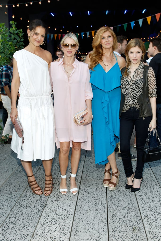 Katie Holmes, Naomi Watts, Connie Britton and Anna Kendrick attended Coach's bash.
