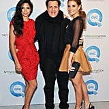 Camila Alves, Isaac Mizrahi, and Maria Menounos at NY Fashion Week.