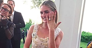 This Actress's Wedding Gown Is Dreamy, But Her Cutout Party Dress Is a Whole Different Story