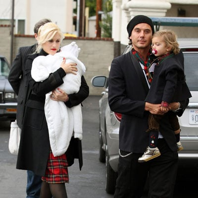 Gwen Stefani, Gavin Rossdale, Kingston Rossdale and Zuma Rossdale Go to Christmas Mass