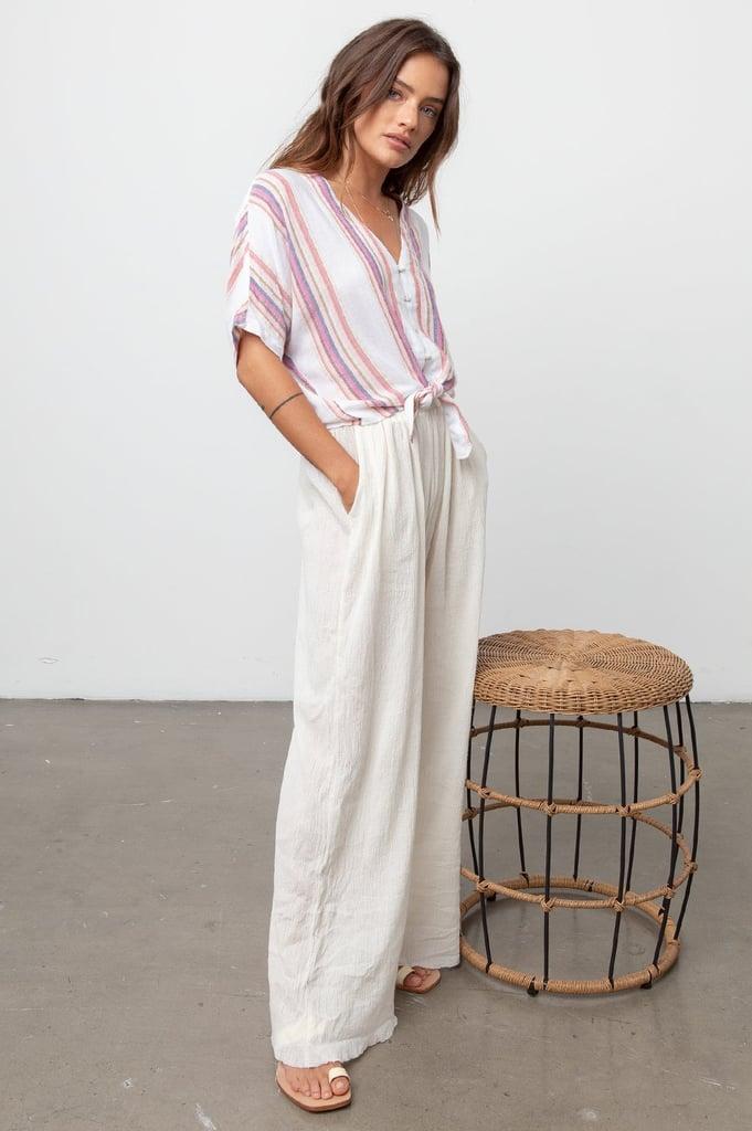 Rails Thea Jewel Stripe Linen Top