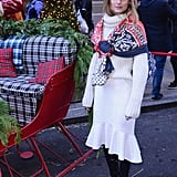 Olivia Palermo got into the Christmas spirit at an event held at the St. Regis in New York.