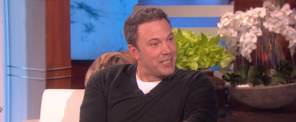 Ben Affleck Talks Back Tattoo on The Ellen DeGeneres Show