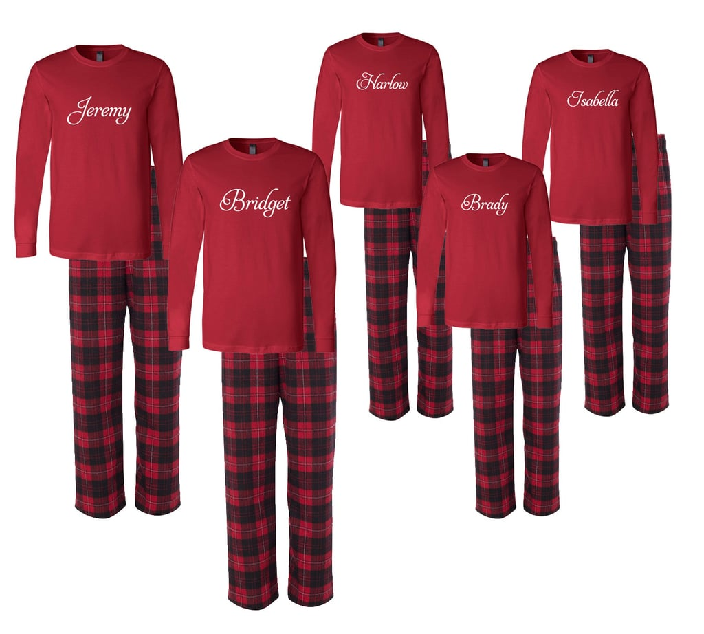 Personalized Family Matching Flannel Pajamas | Matching Family ...