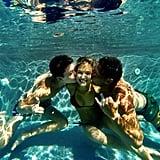 Bar Refaeli got some love underwater. Source: Instagram user barrefaeli