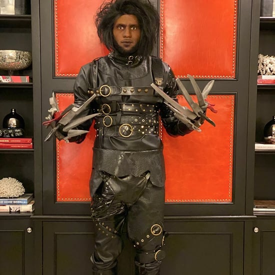 LeBron James Dressed as Edward Scissorhands For Halloween