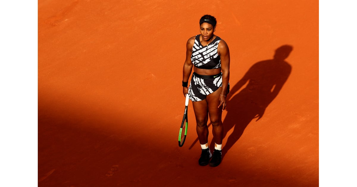 Serena Williams Off White Outfit With Text 2019 French