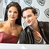Pictured: Marie Avgeropoulos and Richard Harmon.