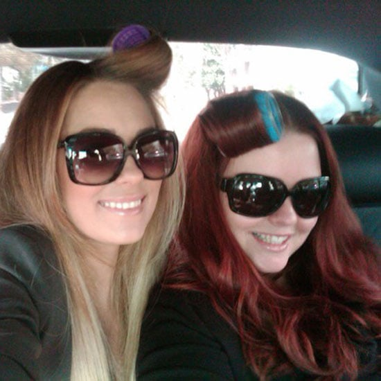 Lauren worked on her volume on her way to an event.  Source: Twitter user laurenconrad