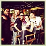 Kat Graham hung out with Wilmer Valderrama and Demi Lovato. Source: Instagram user katgrahampics