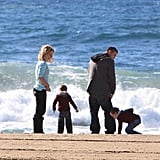 Photos of Britney Spears and The Boys in Santa Barbara