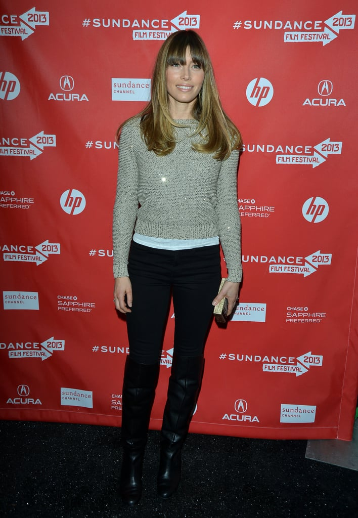 Jessica Biel attended the premiere of Emanuel and the Truth About Fishes at Sundance.