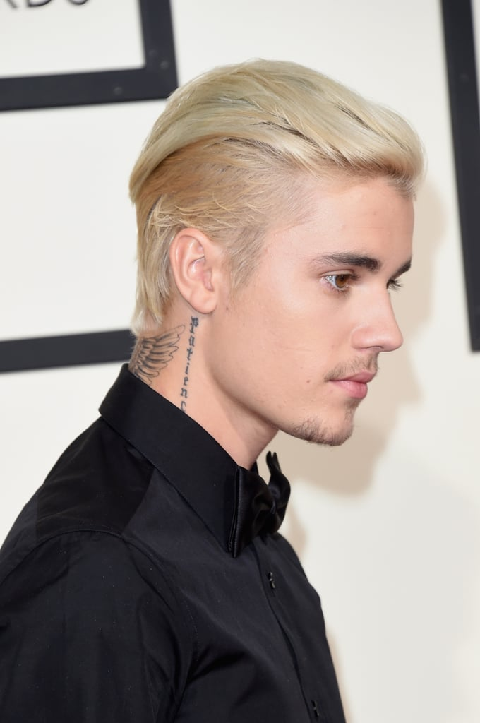 648852c9d2161 Justin Bieber at the 2016 Grammy Awards