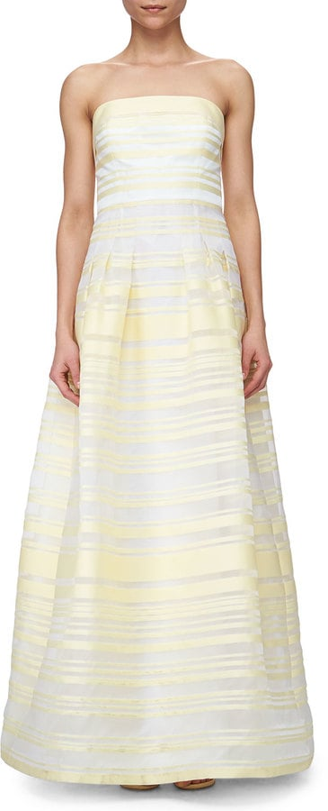 Kay Unger New York Sheer & Solid Striped Ball Gown ($740)