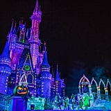 The castle in all of its glowing glory.
