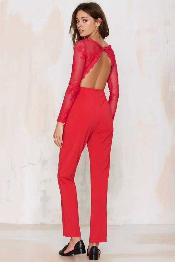 Glamorous Auerlia Lace Jumpsuit ($98)
