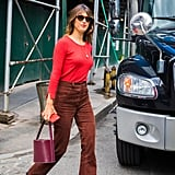 Mix textures. Try rocking corduroys with suede boots and a leather bag.
