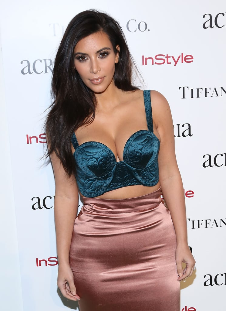 Kim attended an NYC benefit in December 2014.