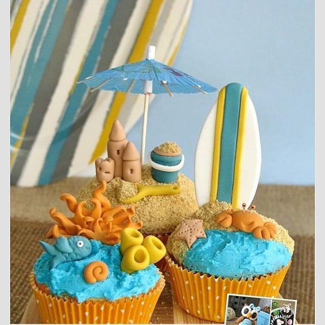 Sand Castle Cupcakes