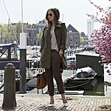 Make the move to Spring easy and stylish by offsetting your anorak with a pair of sleek pumps. Source: Lookbook.nu