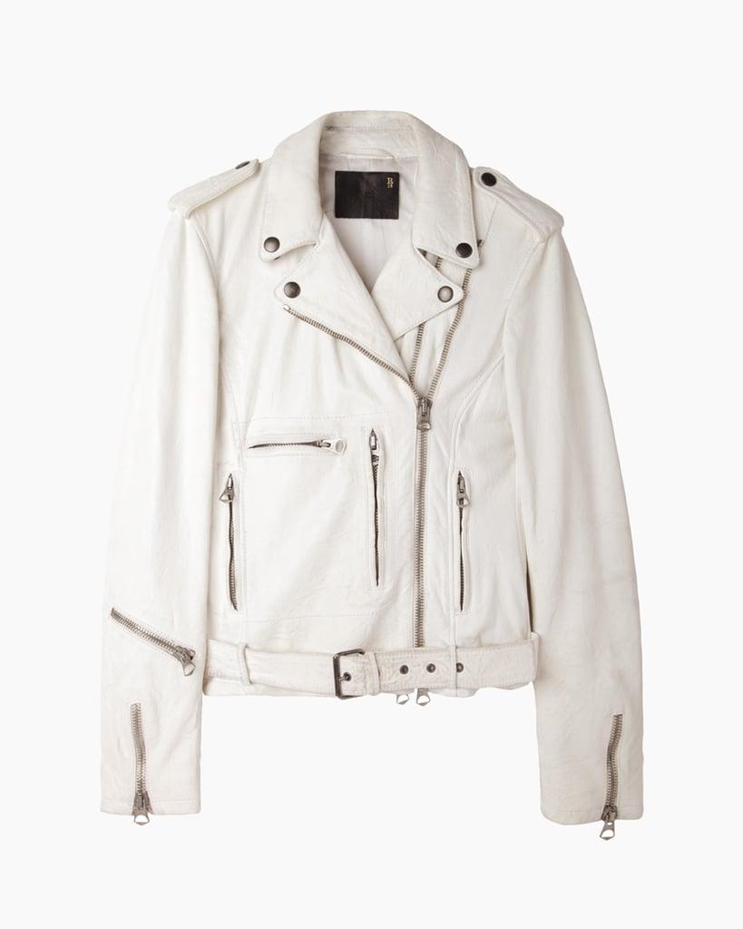R13 Vintage Leather Moto Jacket