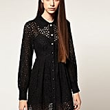 Playful details make this lacy option a little more unique than the rest — and a sweet version to pair with Fall loafers.   Nishe Lace Mixed Button Shirt Dress ($92)