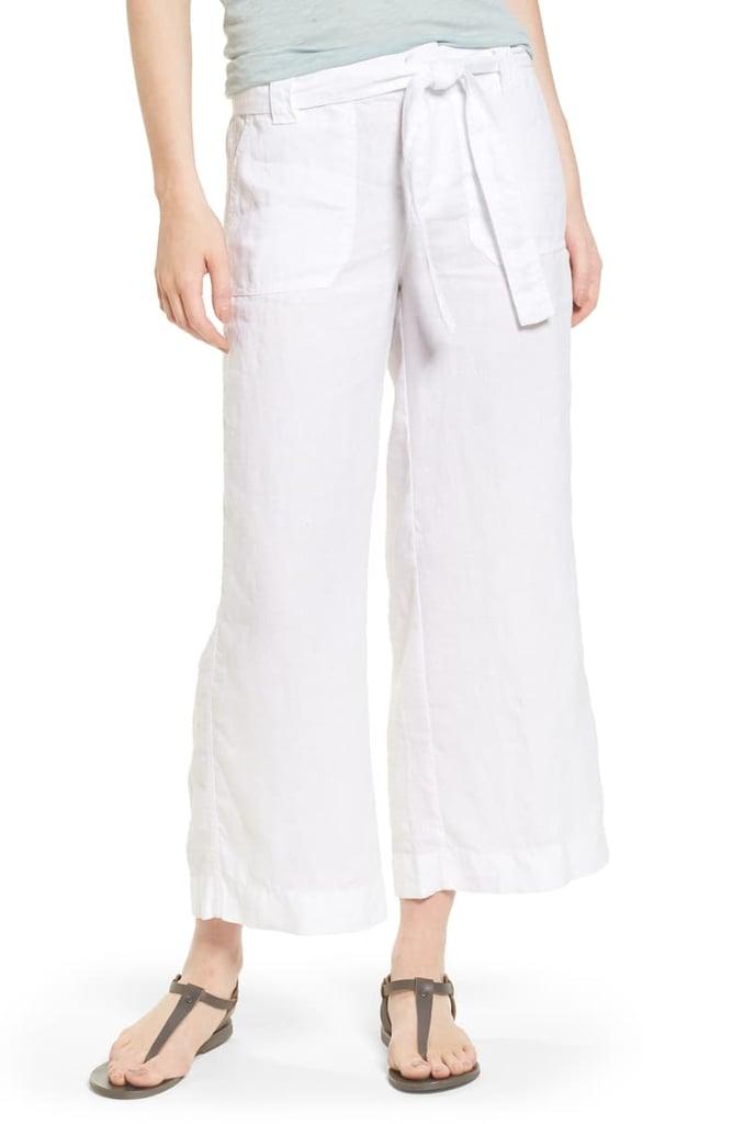 Caslon Wide Leg Crop Linen Pants Best Linen Pants 2019