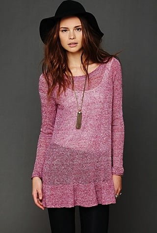 Free People's ruffle-hem tunic ($98), which also comes in cream and gray, is a cute way to get cozy this Winter. Then come Summer, you can use it as a bikini coverup.
