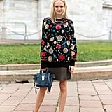 With a pretty top and simple flats.
