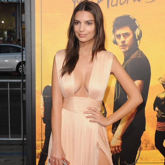 Emily Ratajkowski Gold Dress at We Are Your Friends Premiere