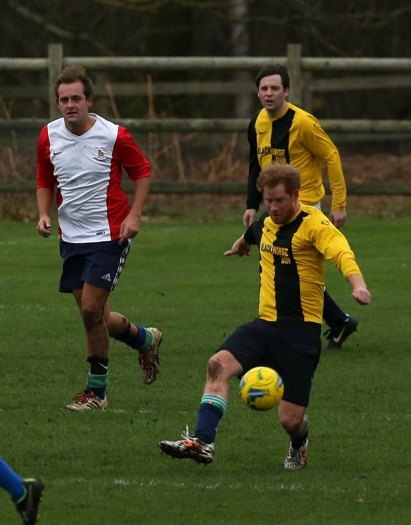 Prince William and Prince Harry Play Soccer December 2015