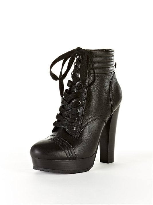 There's a confident toughness and just a little sex-appeal, courtesy of a heel and platform, that give these the quintessential cool-girl vibe.  DKNY Valene Lace Up Ankle Boot ($179)