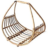 Vintage Gallivanting Girls Rattan Magazine Basket ($199)