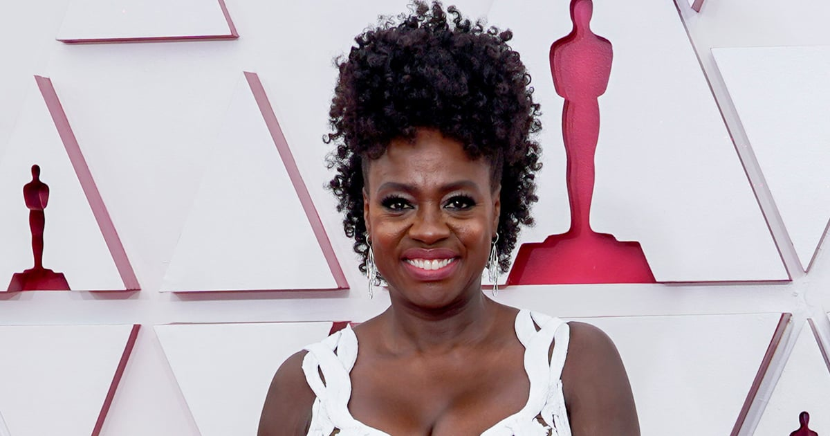 Viola Davis Piled Her Extravagant Curls in a Sky-High Updo For the 2021 Oscars