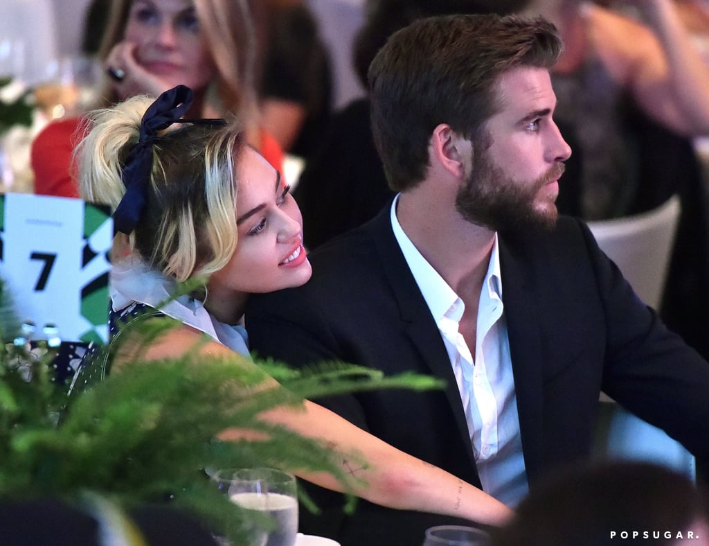 "Miley Cyrus and Liam Hemsworth attended the Variety Power of Women event in LA on Friday, marking their first official public appearance since rekindling their romance. While they didn't walk the red carpet — Miley recently told Elle that she'll ""never do a red carpet again"" — the couple stayed close while seated together at their table, snapping selfies and taking in the ceremony. During the event, Miley was honored for her work with the Happy Hippie Foundation, which she founded in 2014; the organization aims to fight injustice and provide basic needs and support to homeless youth, the LGBTQ community, and other vulnerable populations. Liam and Miley resumed their engagement in January after having broken up back in 2013. They have kept their relationship private this time around, but we have gotten a glimpse of them on outings together around LA and in Liam's native Australia, and they have reportedly been busy planning their upcoming wedding.      Related:                                                                Miley Cyrus and Liam Hemsworth Hold Hands While Heading Out in NYC                                                                   Of Course Miley Cyrus and Liam Hemsworth Sing Justin Bieber Together in the Car"