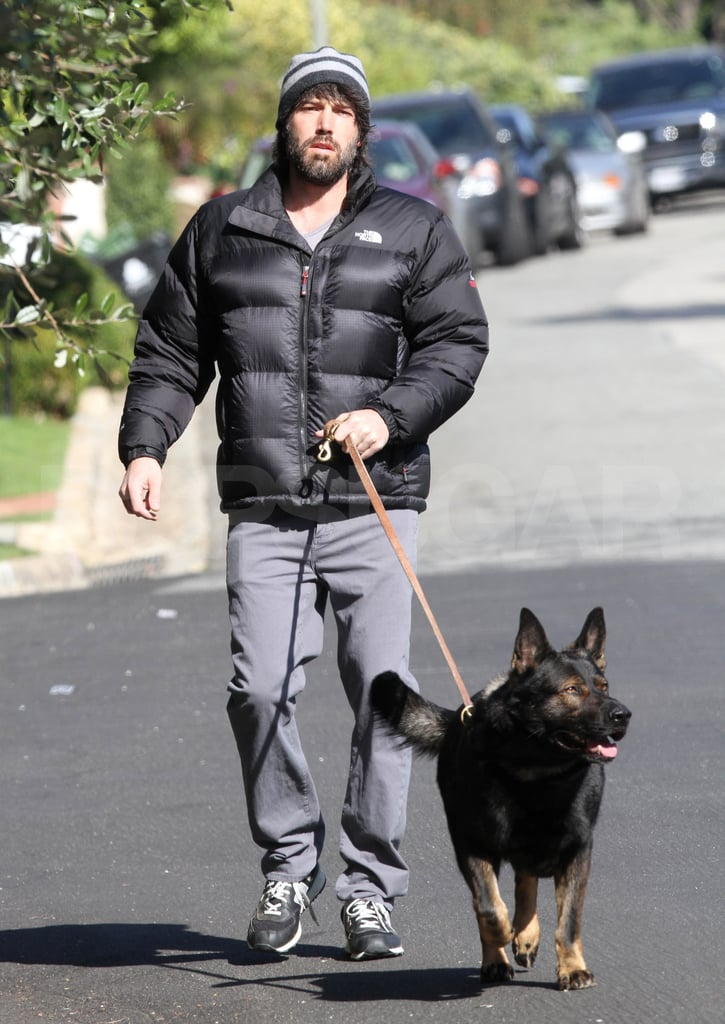 Ben Affleck hung out near his LA home.