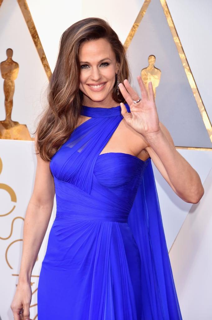 Jennifer Garner Blue Versace Dress Oscars 2018 Popsugar