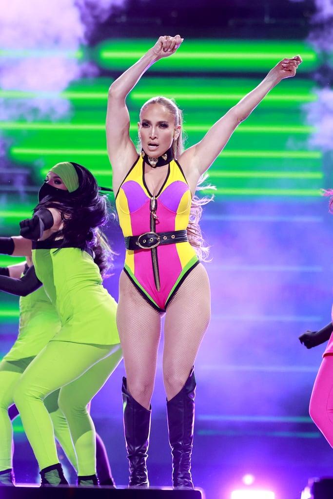J Lo's Neon Bodysuit at the Global Citizen Concert