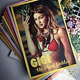 """Gigi shared her Tommy Hilfiger postcard on Instagram, writing, """"party favours. The lineup postcards.. #TommySpring16 @tommyhilfiger."""""""