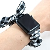 Gingham Bow Scrunchie Watch Band