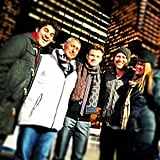 Adam Shankman shared a Christmas moment with Glee's cast members and crew. Source: Instagram user adamshankman