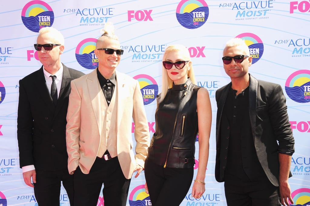 Tom Dumont, Adrian Young, Gwen Stefani, and Tony Kanal hit the Teen Choice Awards red carpet.
